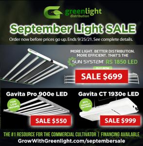 september light sale on led grow lights
